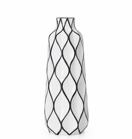 "Abstract 15.5"" Lattice Ceramic Vase"