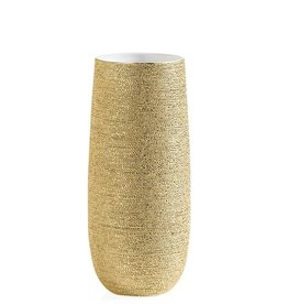 Brava Gold Spun 11H Vase