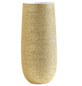 Brava Gold Spun 14.5H Vase