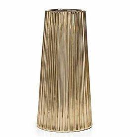 Thena Ceramic Tapered Gold 10H Vase