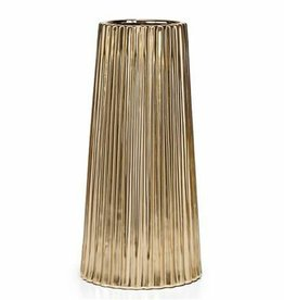 Thena Ceramic Tapered Gold 14H Vase