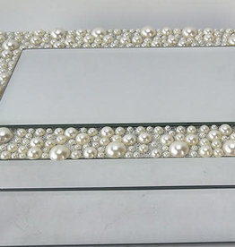 Pearl Band Mirror Jewelry Box