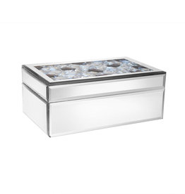 Clear Jewels Mirror Jewelry Box