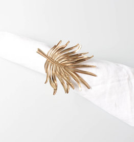 Gold leaf napkin ring