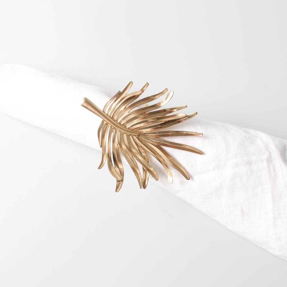 Gold Palm Leaf Napkin Ring