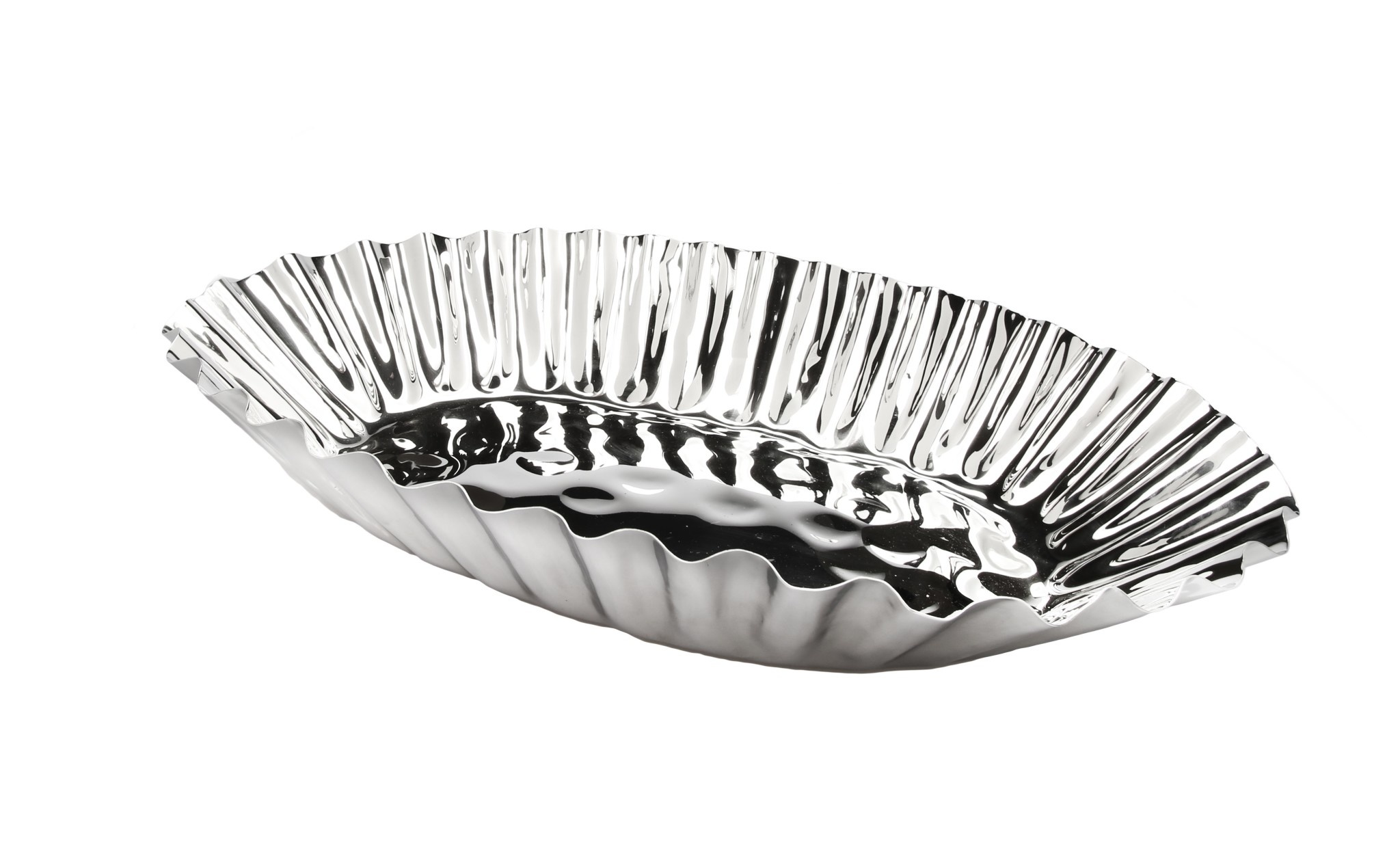 "Rippled Design 18"" Oval Platter"