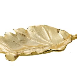 Small Gold Leaf Platter 10""