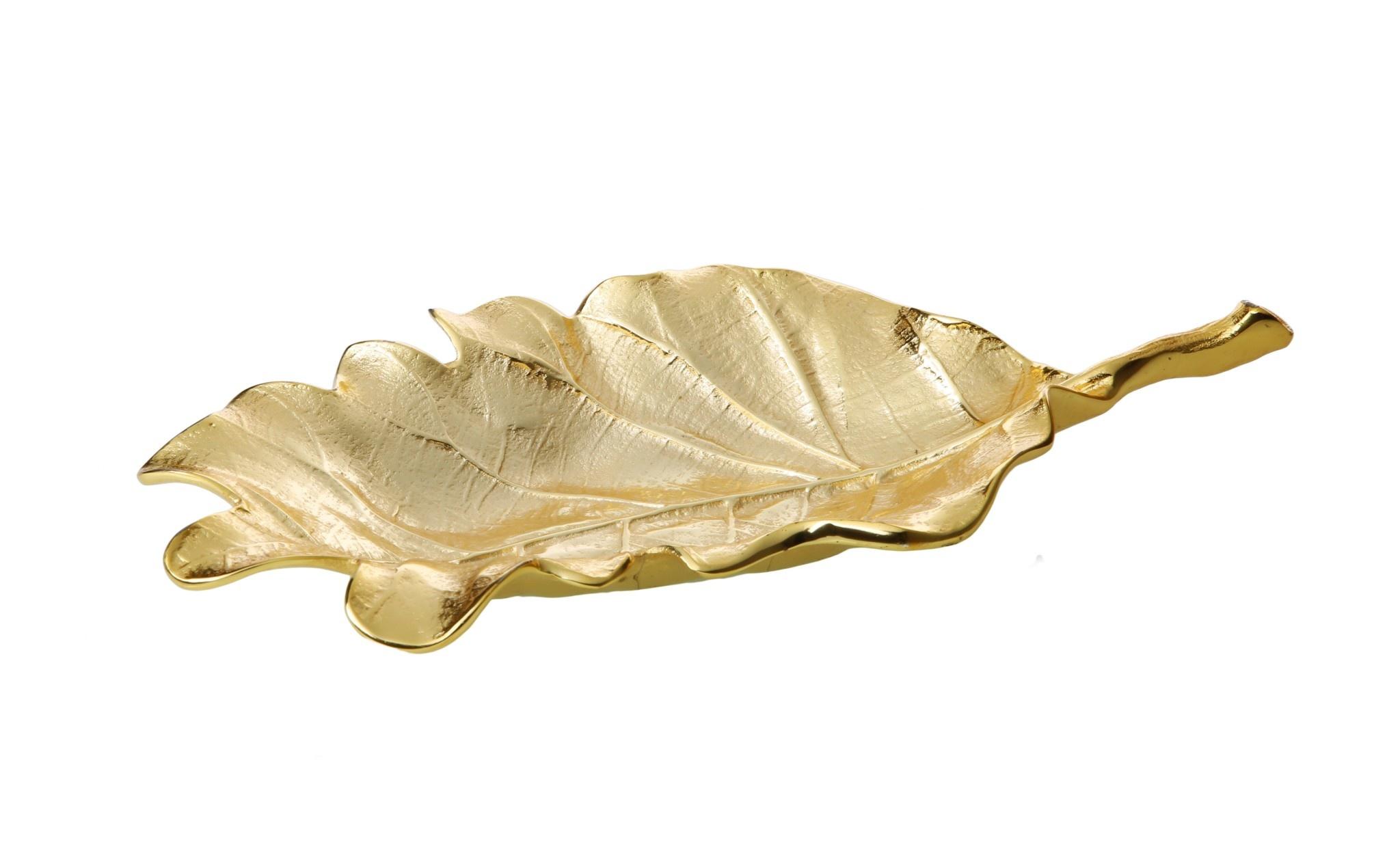 "Small Gold Leaf Platter 10"""