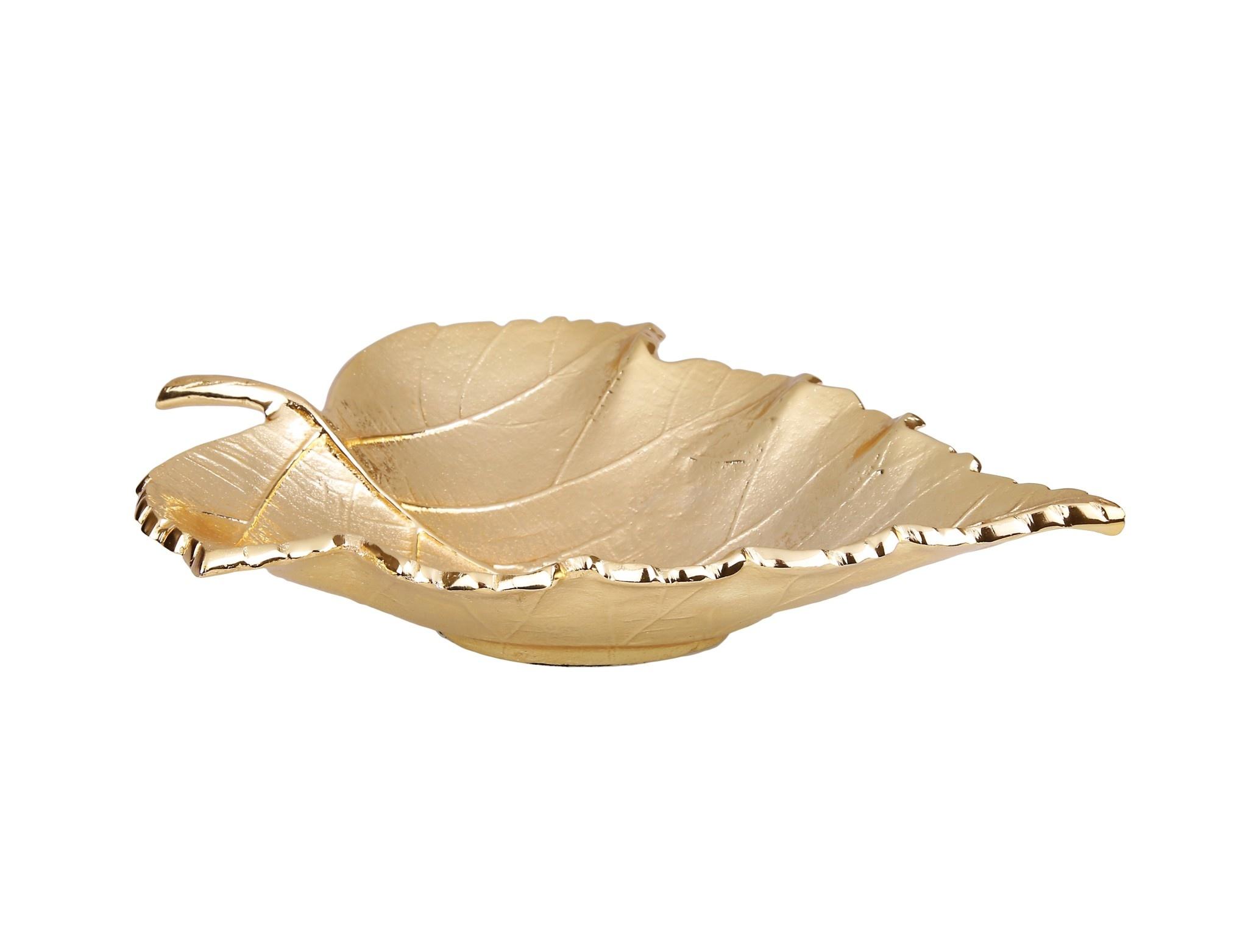 """Deep Gold Leaf Platter 17"""""""