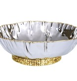 Small Crumpled Leaf Bowl with Mosaic Base