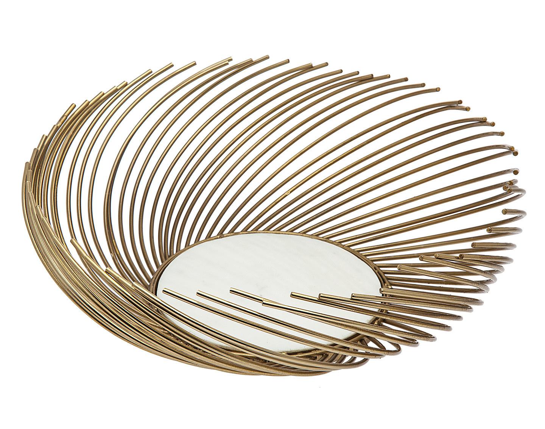 Godinger Silver Art Co Radial Gold Fruit Bowl