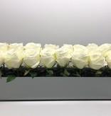 """24"""" Mirror White Rose Centerpiece"""