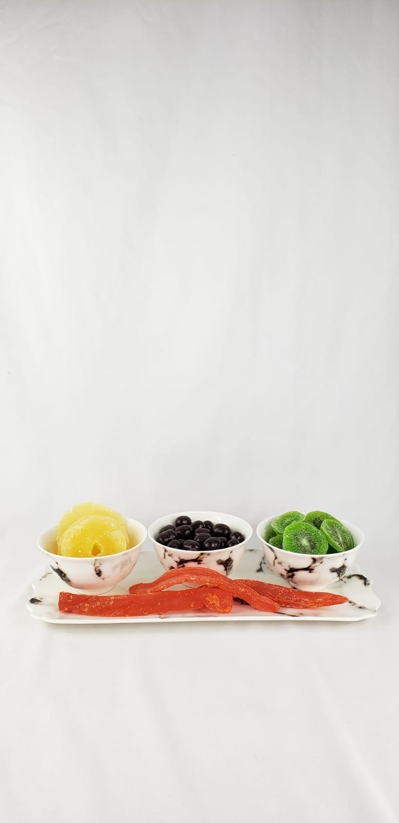 Quarie Black 4 pc Dip Set w Fruit