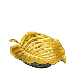 Medium Leaf Shaped Bowl Black/Gold
