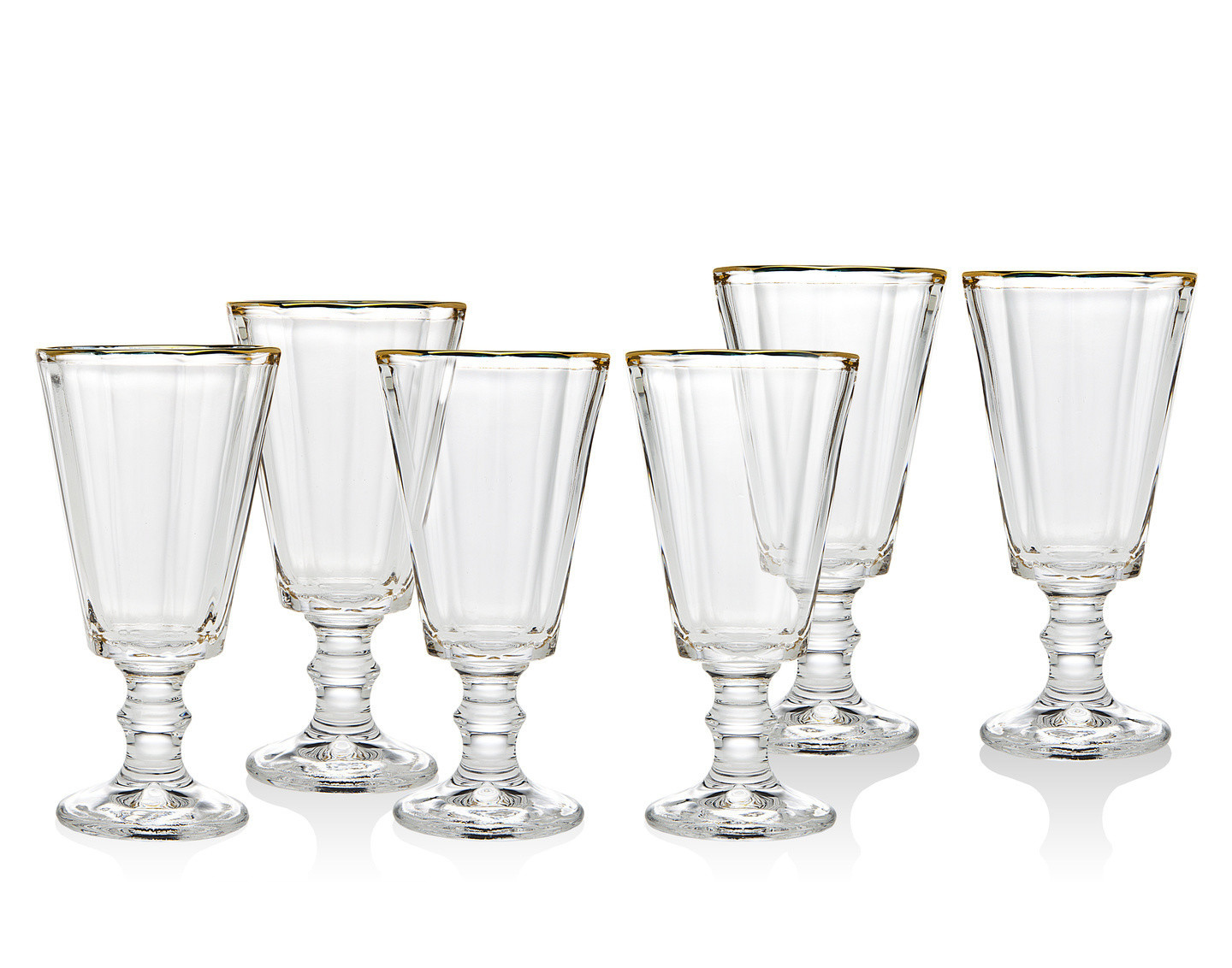 Grandeur Gold shot glasses s/6