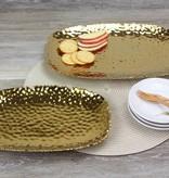 Large Rectangle Ceramic Tray Gold