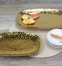 Large Rectangle Ceramic Tray Gold