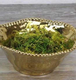 Small Ceramic Beaded Deep Bowl Gold