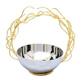 Round ss bowl with removable twigs