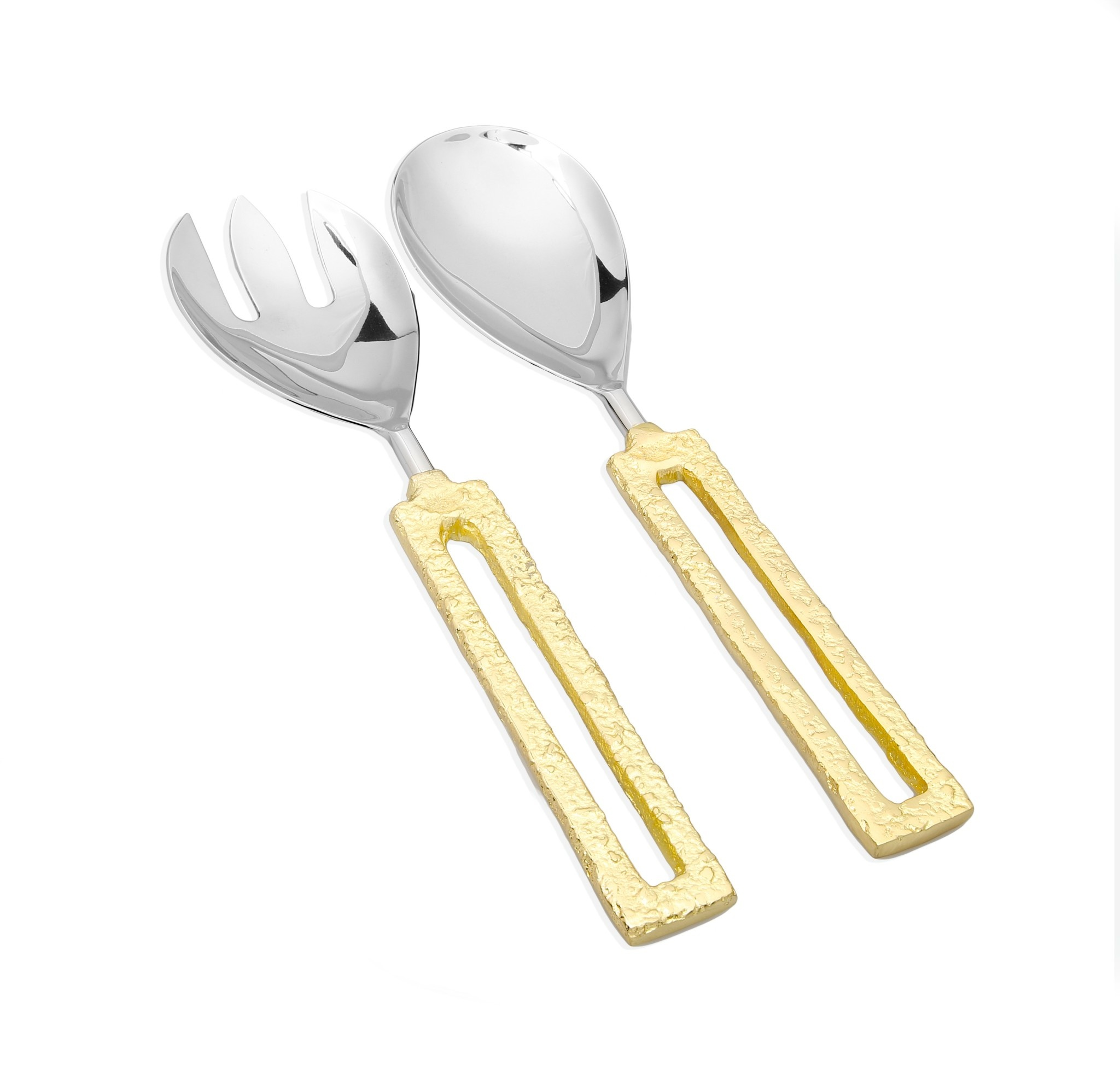 Square Gold Loop Serving Spoons