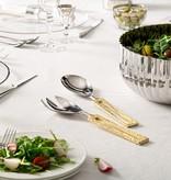 Square Gold Loop Salad Servers
