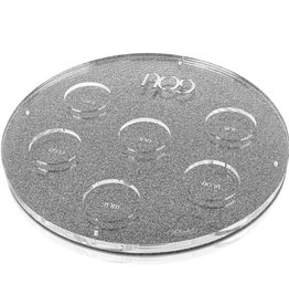 Waterdale Collection U Collection Round Seder Plate Silver