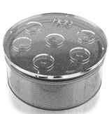 Waterdale Collection U Collection Round Matzah Box Silver