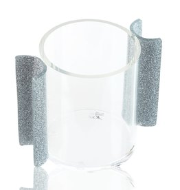 Waterdale Collection U Collection Silver Glitter Washing Cup