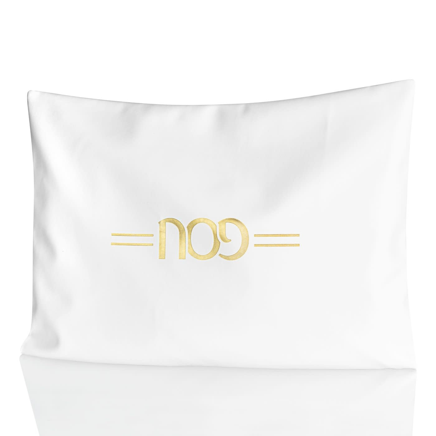 Leather Pillow Case White with Gold