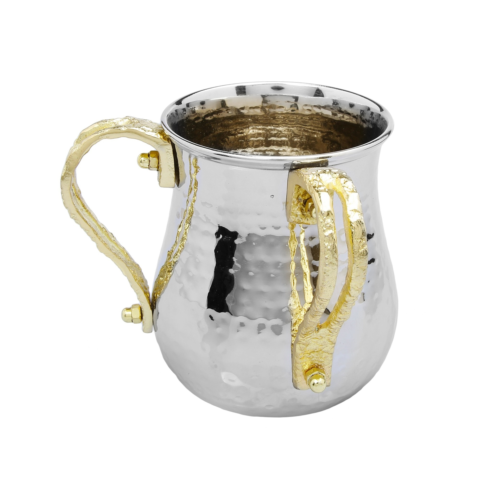 SS Wash Cup Gold Loop Handles