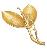 Gold Birch Leaf Shaped - Vein Engraved Relish Dish