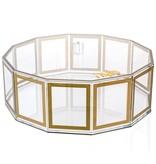 Hexagon Outlined Gold Matzah Box