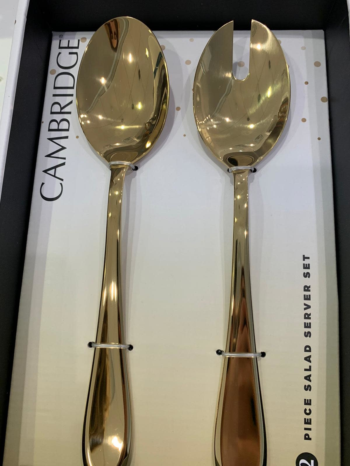 Celeste Gold Shiny Serving Spoons