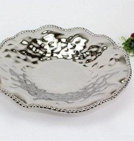 Large Ceramic Beaded Serving Platter