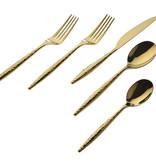 Avellino Shiny Gold 20pc Flatware Set