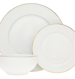 Pique Gold 18 Pc  Dinnerware Set