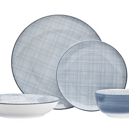 Varick Blue 16 pc Dinnerware Set