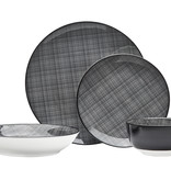 Varick Black 16 pc Dinnerware Set