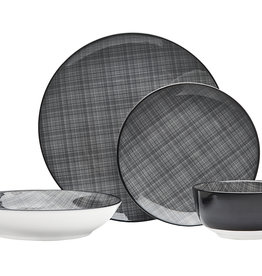 Varick Black 16 pc Dinnerware Set