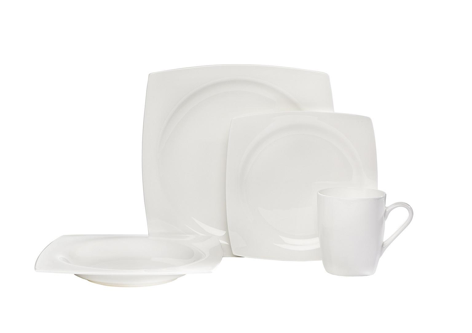 Straight Square 16 pc Dinnerware Set