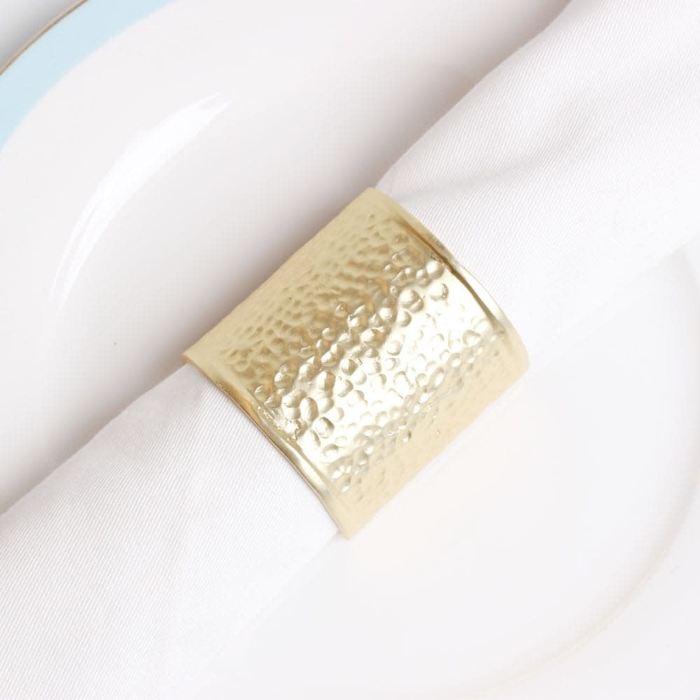 Hammered Gold Napkin Ring