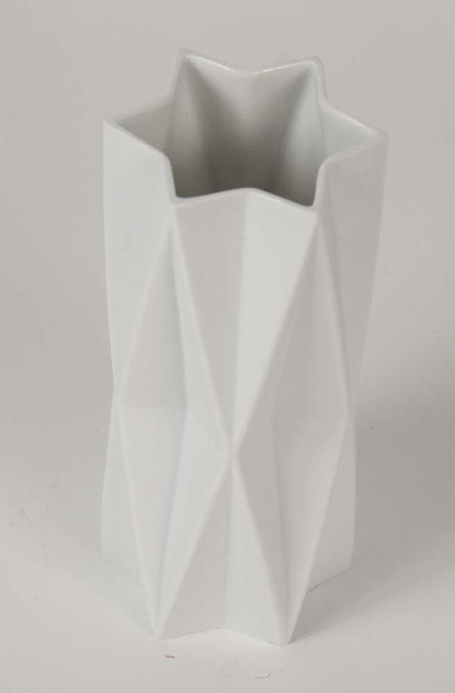 Ceramic White Star Vase