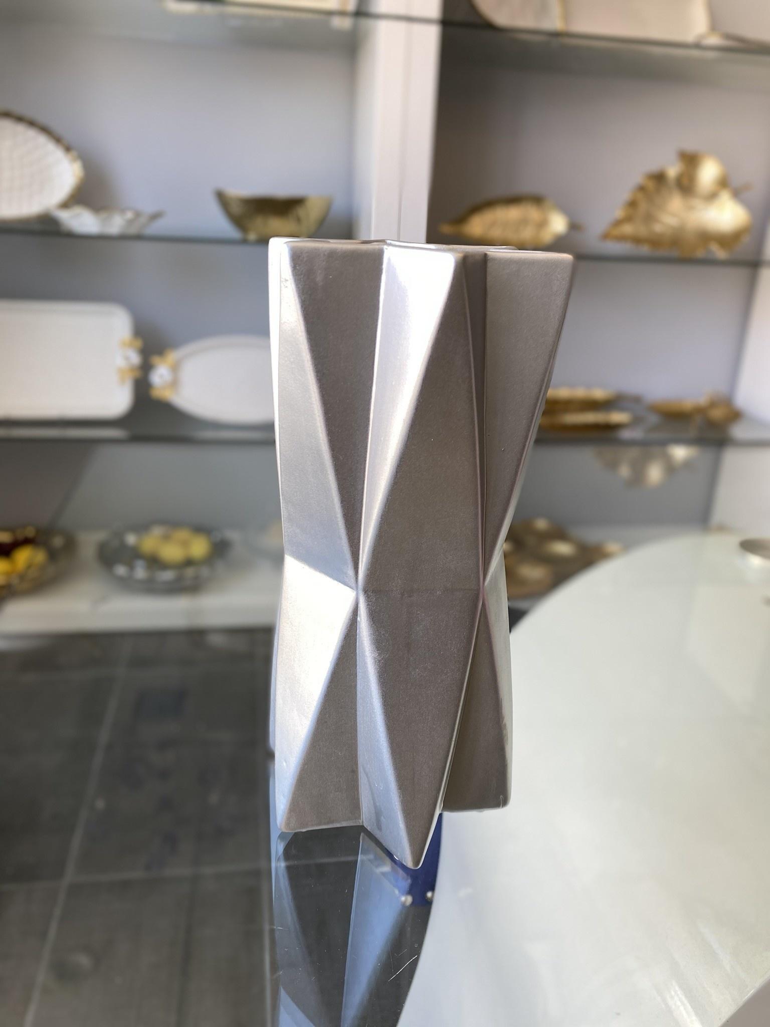 Ceramic Silver Star Vase