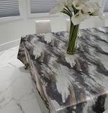 TC1200- 70 x 120 Jacquard Silver/Gold Tablecloth