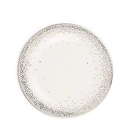 Pickard china Kelly Wearstler Trousdale Platinum Salad Plate Ultra White