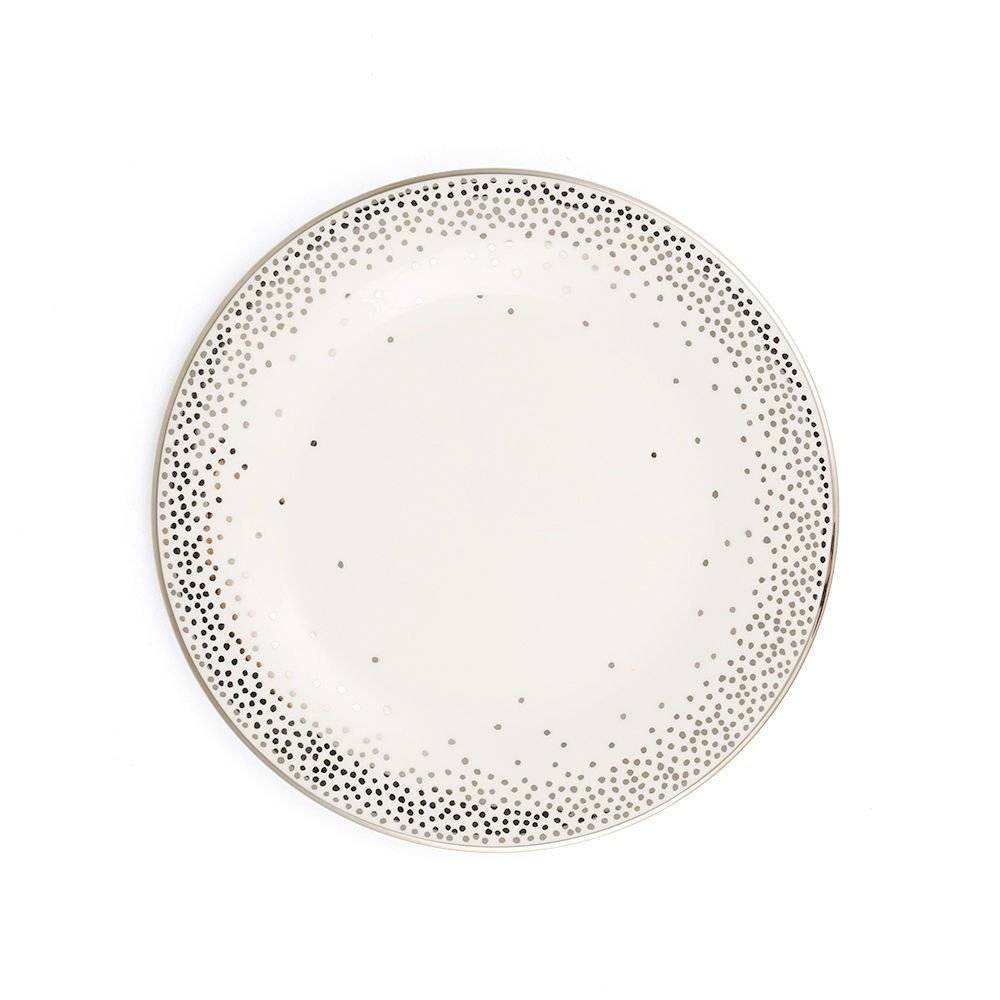 Pickard china Kelly Wearstler Trousdale Platinum Salad Plate Ultra White