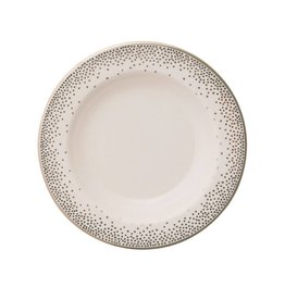 Pickard china Kelly Wearstler Trousdale Platinum Soup Bowl Ultra White