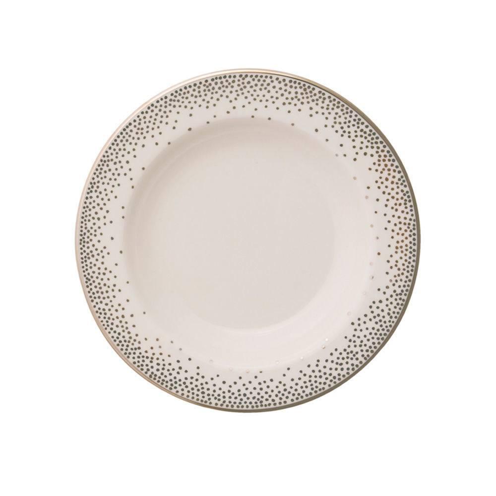 Pickard china Kelly Wearstler Trousdale Platinum Soup Bowl Ultra White