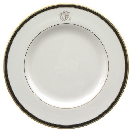 Pickard china Signature Monogrammed soup plate