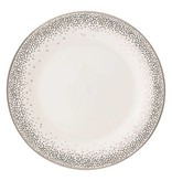 Pickard china Kelly Wearstler Trousdale Platinum Dinner Plate Ultra White
